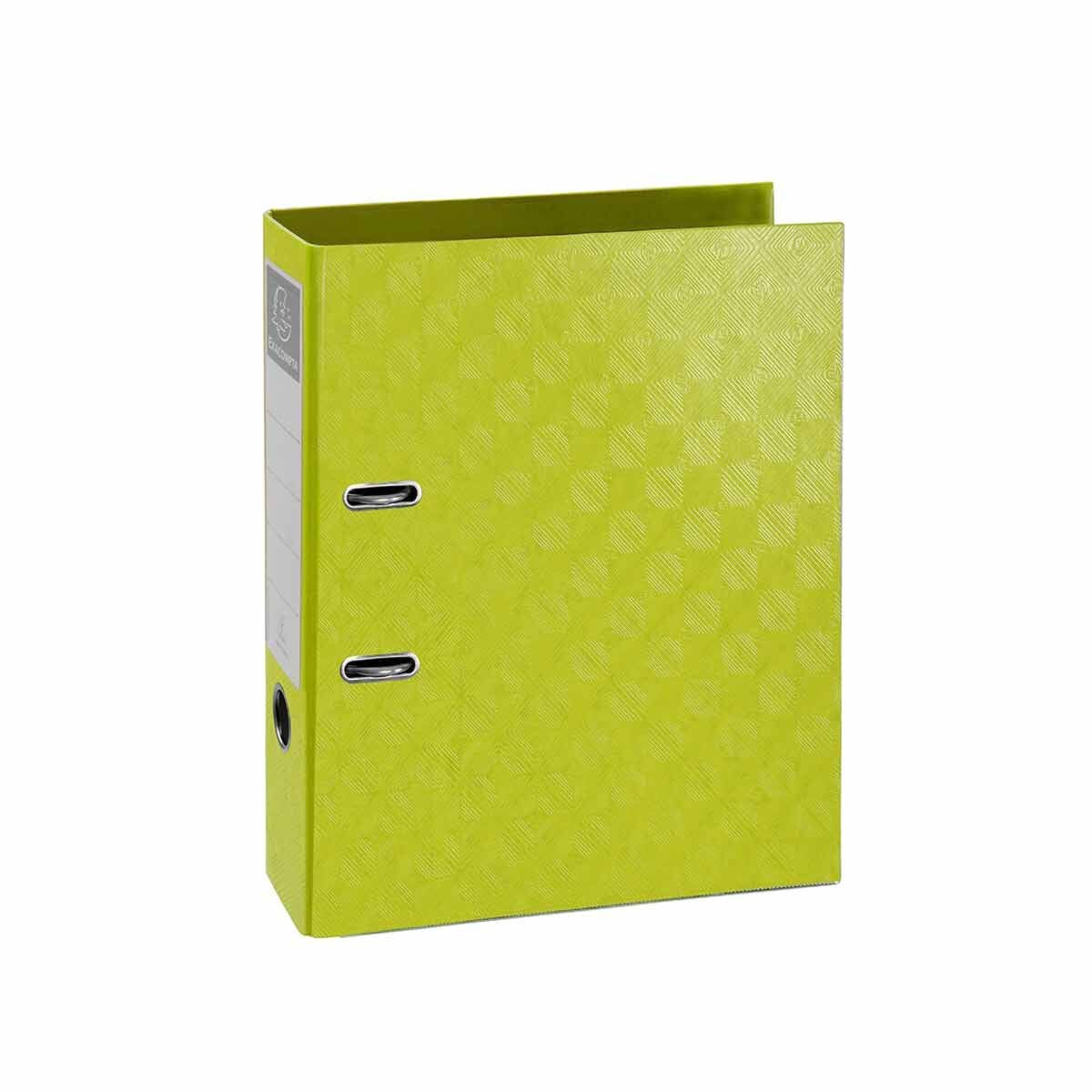 Exacompta 1928 PreTouch Lever Arch File A4 70mm Pack of 10 Lime Green