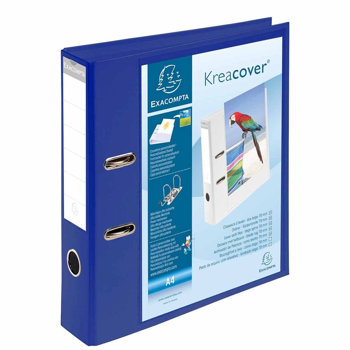Exacompta Kreacover PremTouch Lever Arch File A4 70mm Pack of 10 Blue