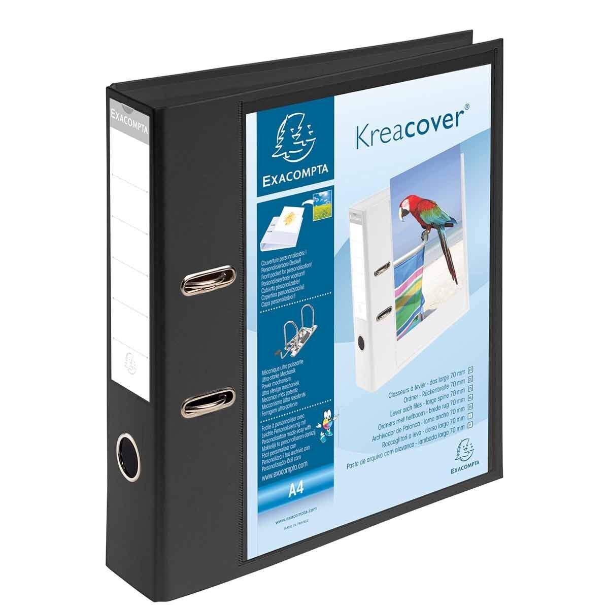 Exacompta Kreacover PremTouch Lever Arch File A4 70mm Pack of 10 Black