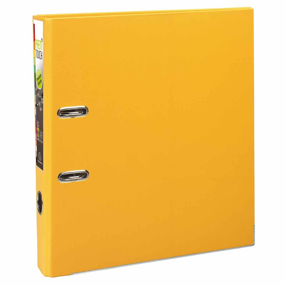 Exacompta PremTouch Lever Arch File A4 Plus PP 50mm Pack of 10 Yellow