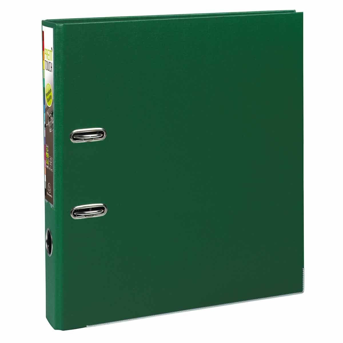 Exacompta PremTouch Lever Arch File A4 Plus PP 50mm Pack of 10 Dark Green