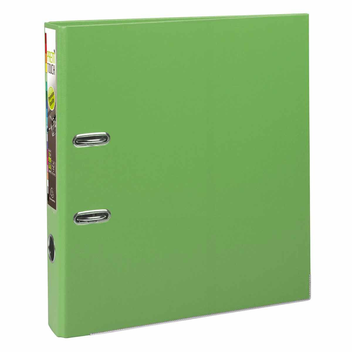 Exacompta PremTouch Lever Arch File A4 Plus PP 50mm Pack of 10 Lime