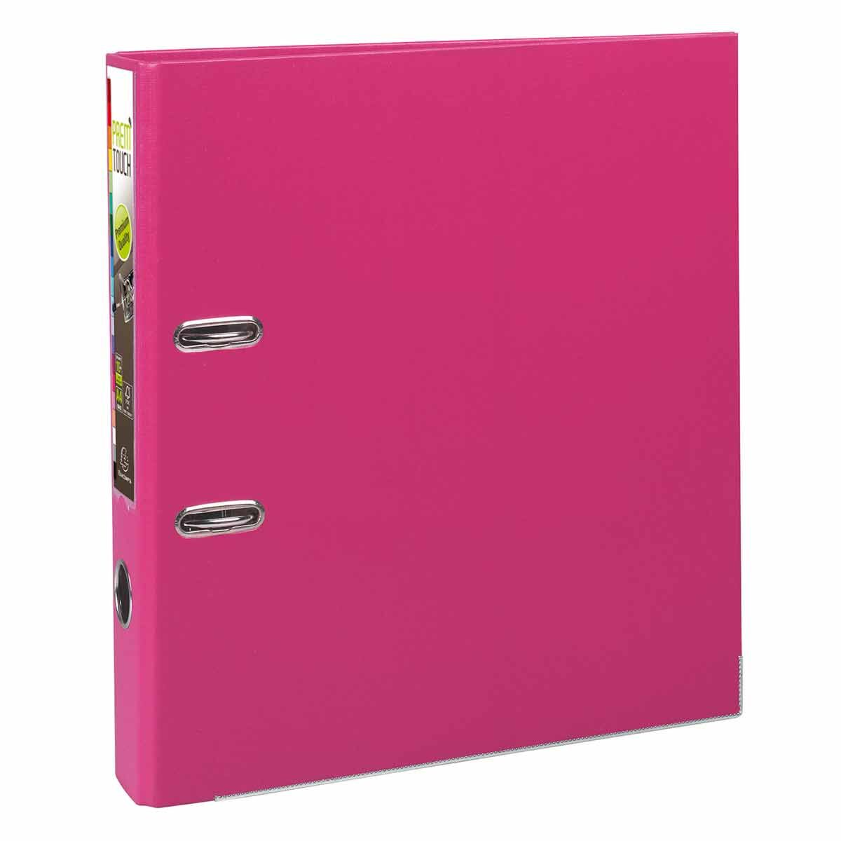 Exacompta PremTouch Lever Arch File A4 Plus PP 50mm Pack of 10 Raspberry