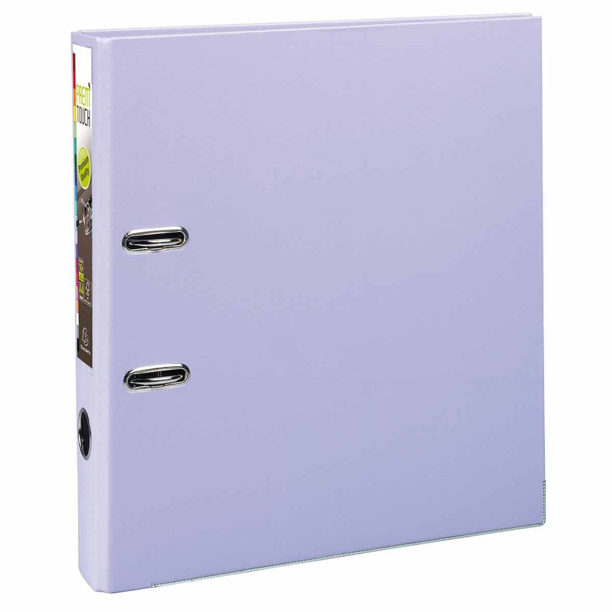 Exacompta PremTouch Lever Arch File A4 Plus PP 50mm Pack of 10 Lilac