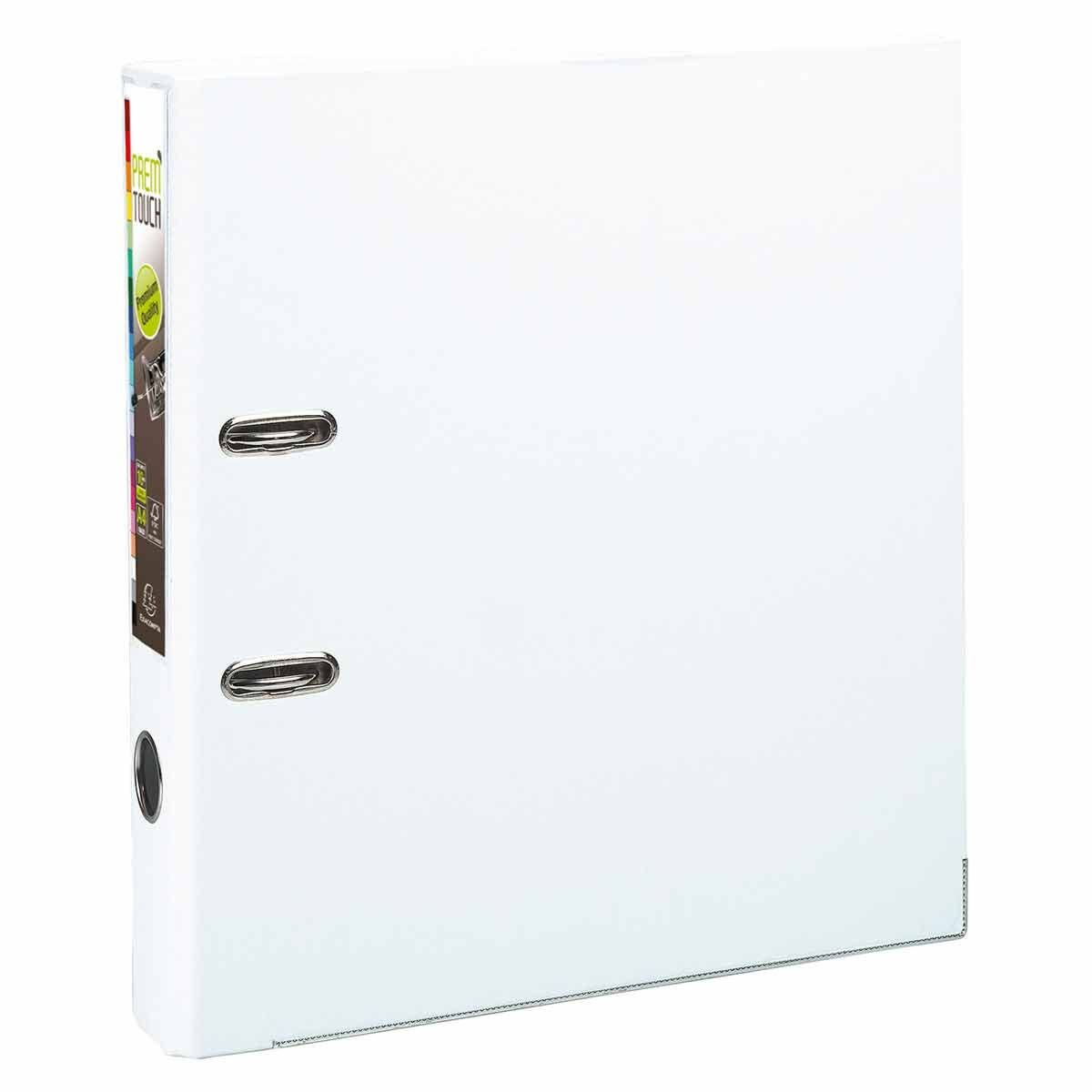Exacompta PremTouch Lever Arch File A4 Plus PP 50mm Pack of 10 White
