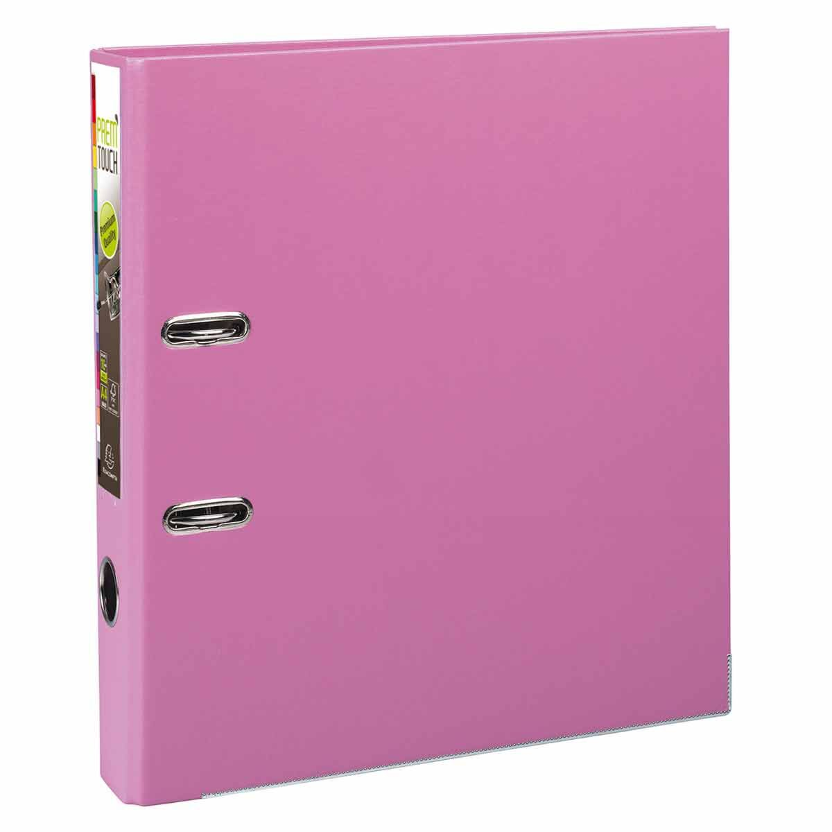 Exacompta PremTouch Lever Arch File A4 Plus PP 50mm Pack of 10 Pink