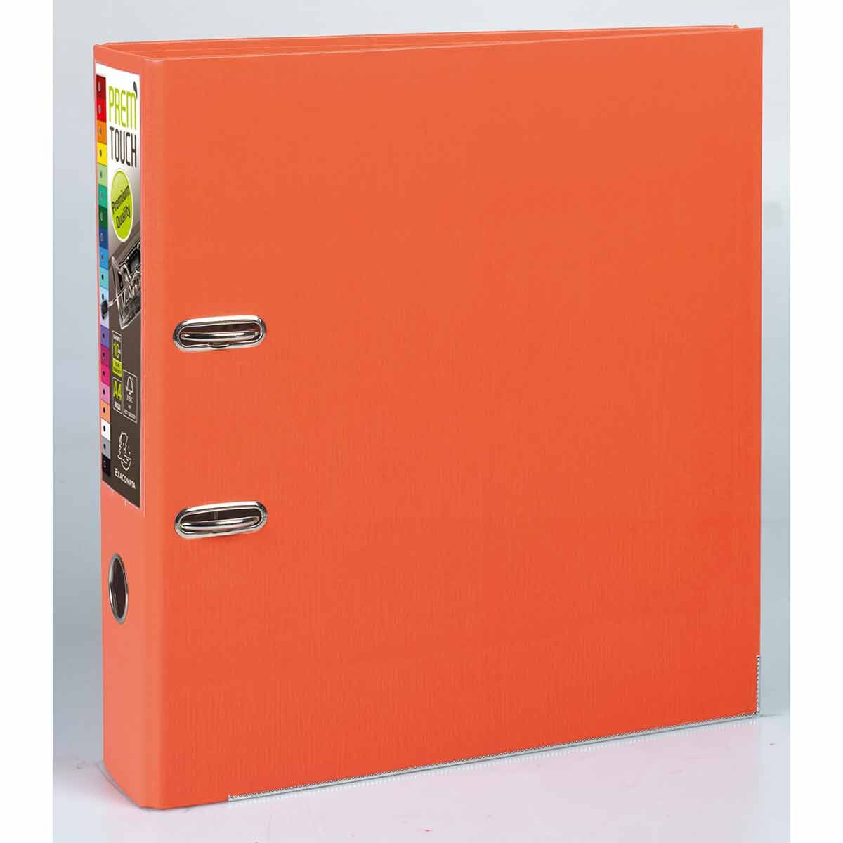 Exacompta PremTouch Lever Arch File A4 Plus PP 80mm Pack of 10 Orange