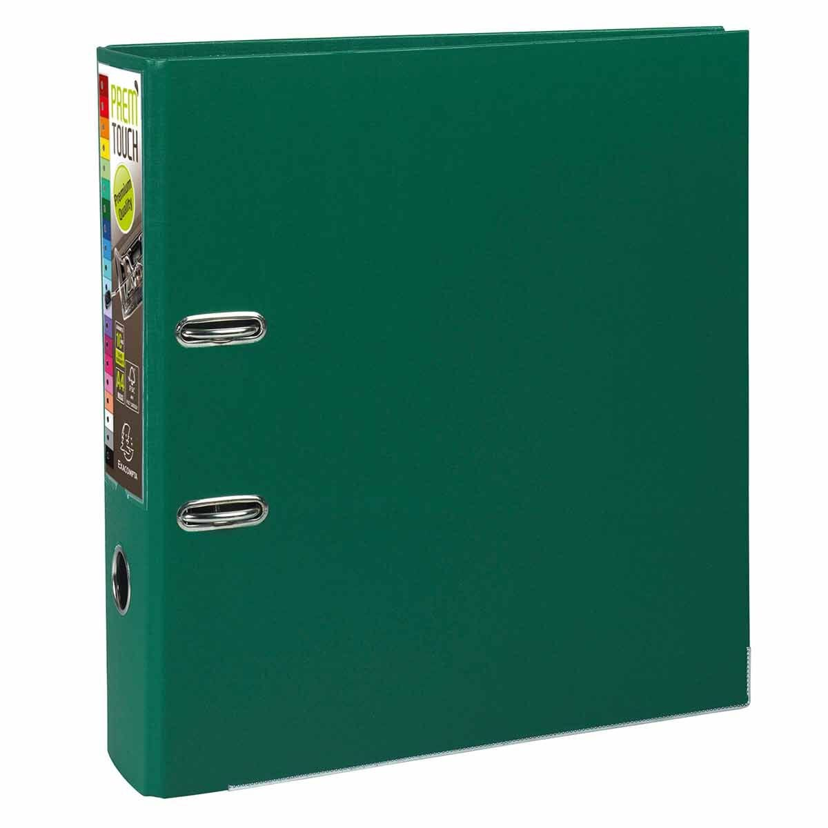 Exacompta PremTouch Lever Arch File A4 Plus PP 80mm Pack of 10 Dark Green