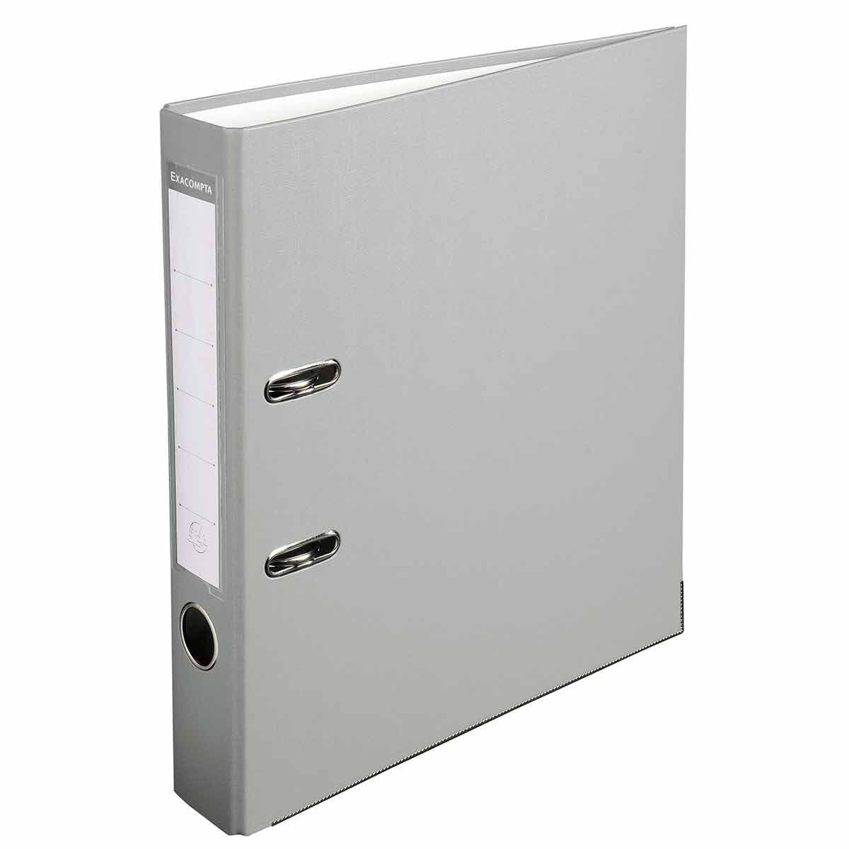 Exacompta Lever Arch File A4 PP 50mm Pack of 20 Grey