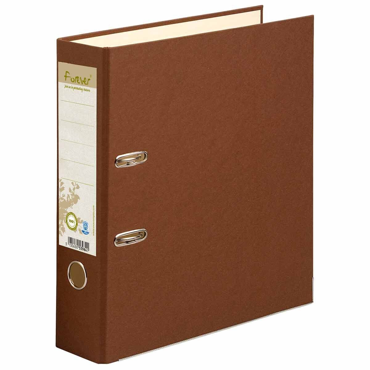 Exacompta Forever Premium Touch Lever Arch File A4 Pack of 10 Chocolate