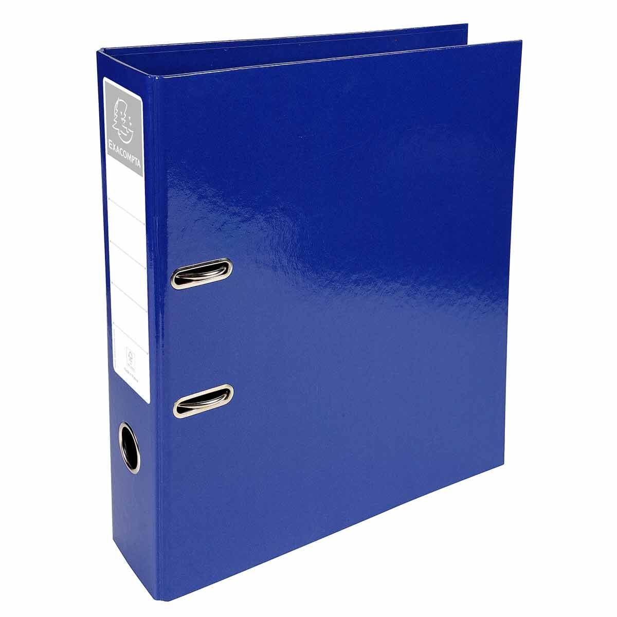 Exacompta Iderama PremTouch Lever Arch File A4 70mm Pack of 10 Dark Blue
