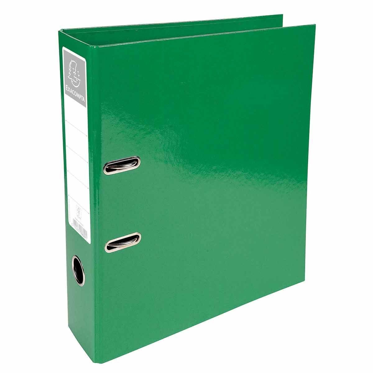 Exacompta Iderama PremTouch Lever Arch File A4 70mm Pack of 10 Dark Green