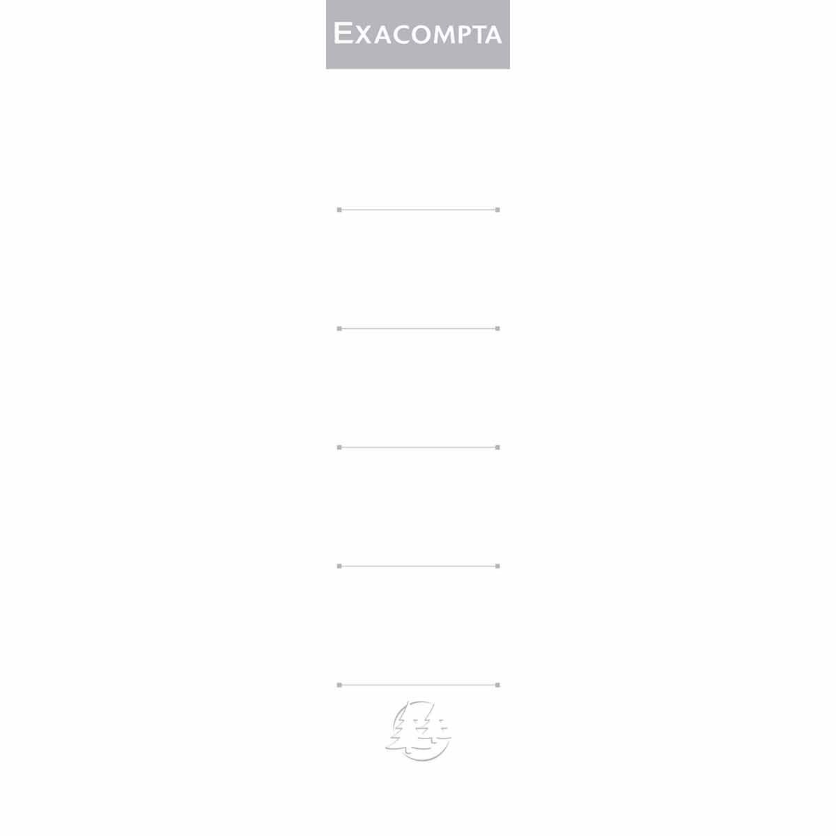 Exacompta Lever Arch File Spine 50mm Labels Pack of 10