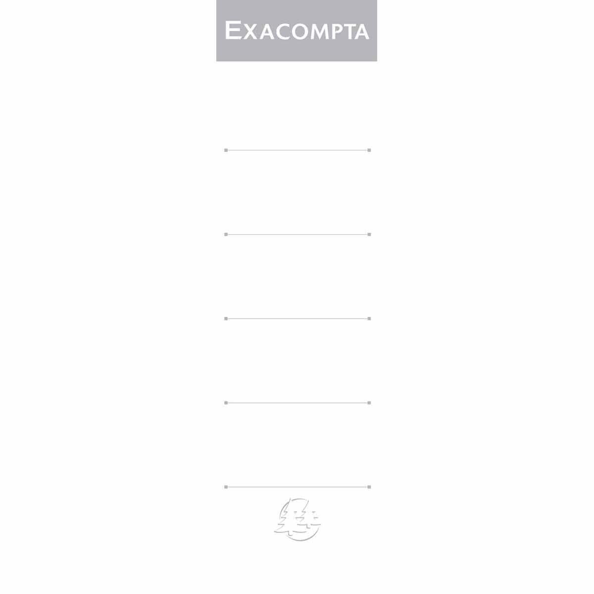 Exacompta Lever Arch File Spine 70mm Labels Pack of 10