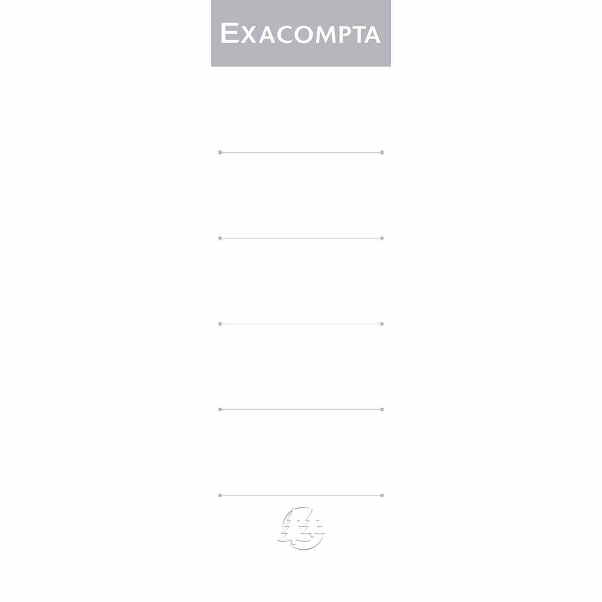 Exacompta Lever Arch File Spine 80mm Labels Pack of 10