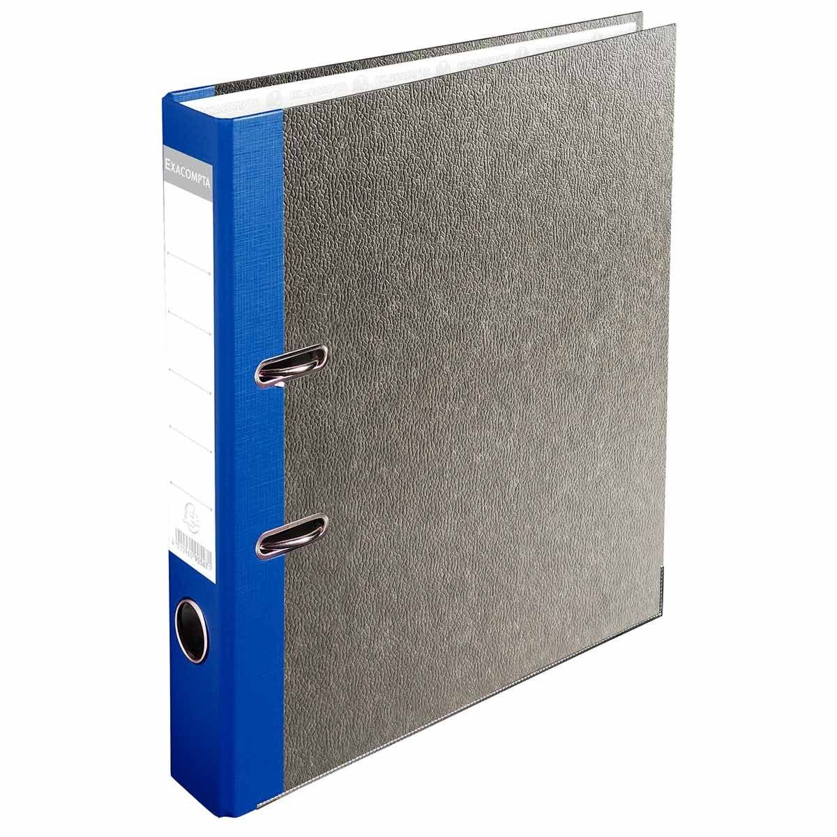 Exacompta PremTouch Lever Arch File A4 50mm Marbled Grey Pack of 20 Blue