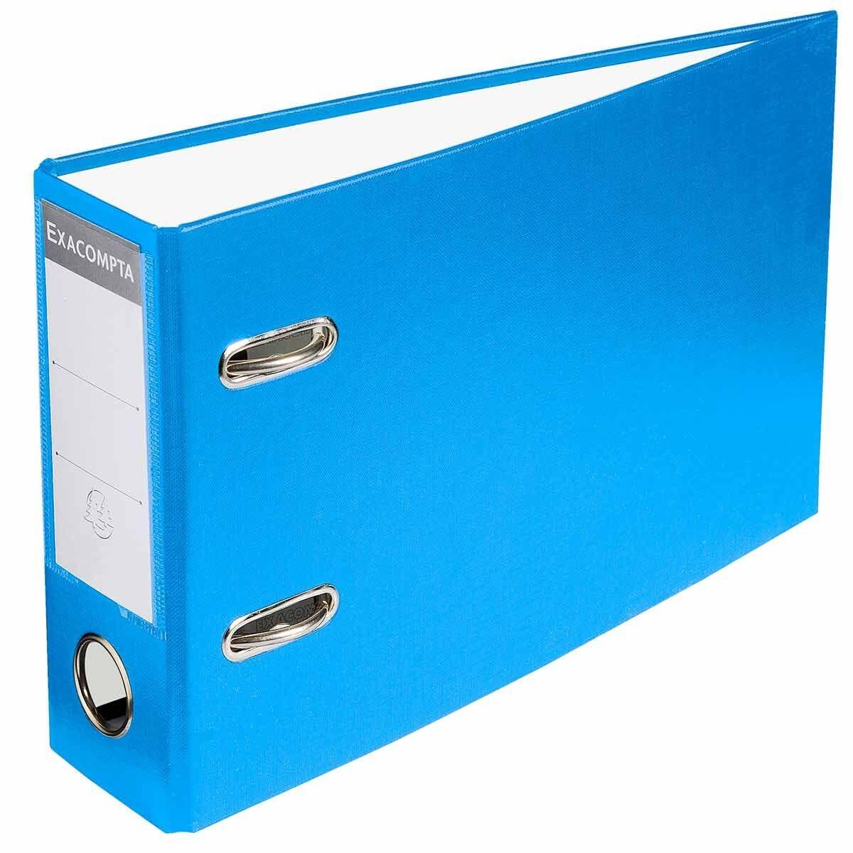 Exacompta Lever Arch File A5 Landscape 70mm Pack of 10 Blue
