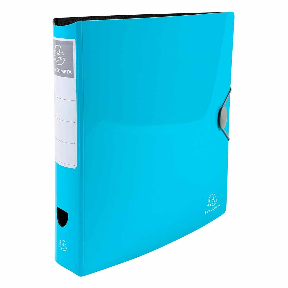 Exacompta Iderama Glossy Lever Arch File A4 PP 75mm Pack of 6 Light Blue