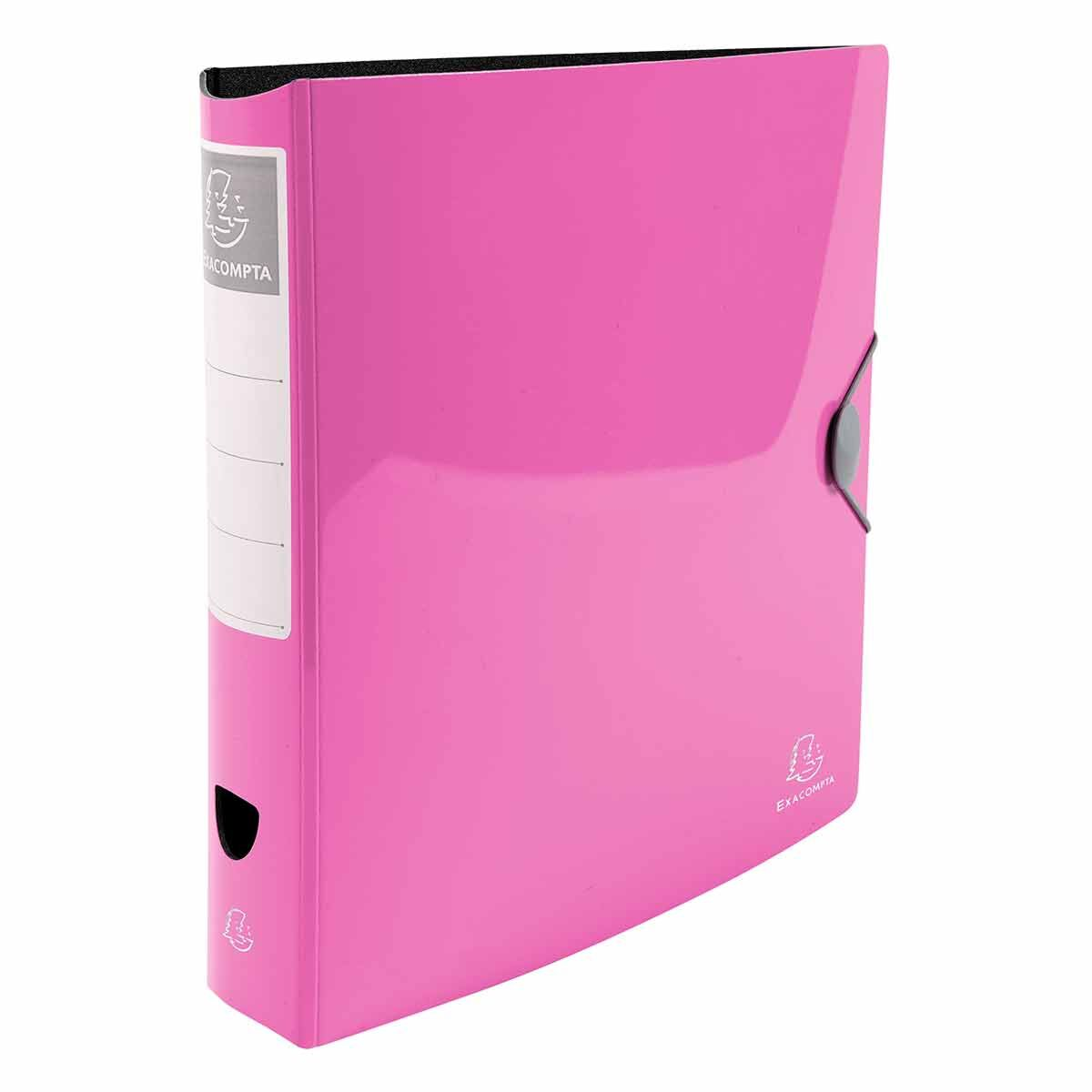 Exacompta Iderama Glossy Lever Arch File A4 PP 75mm Pack of 6 Pink