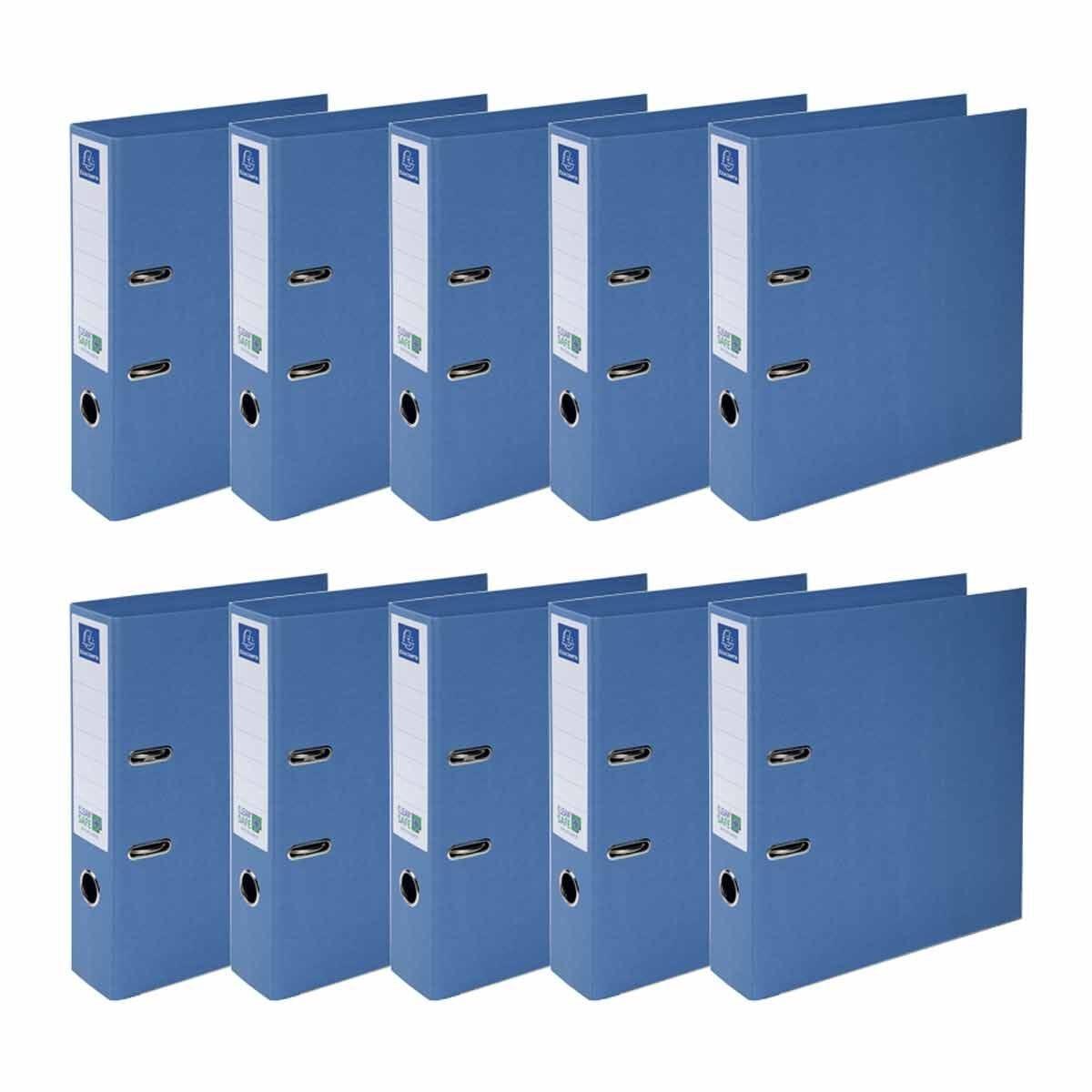 Exacompta Clean Safe Lever Arch File 70mm Spine Pack of 10