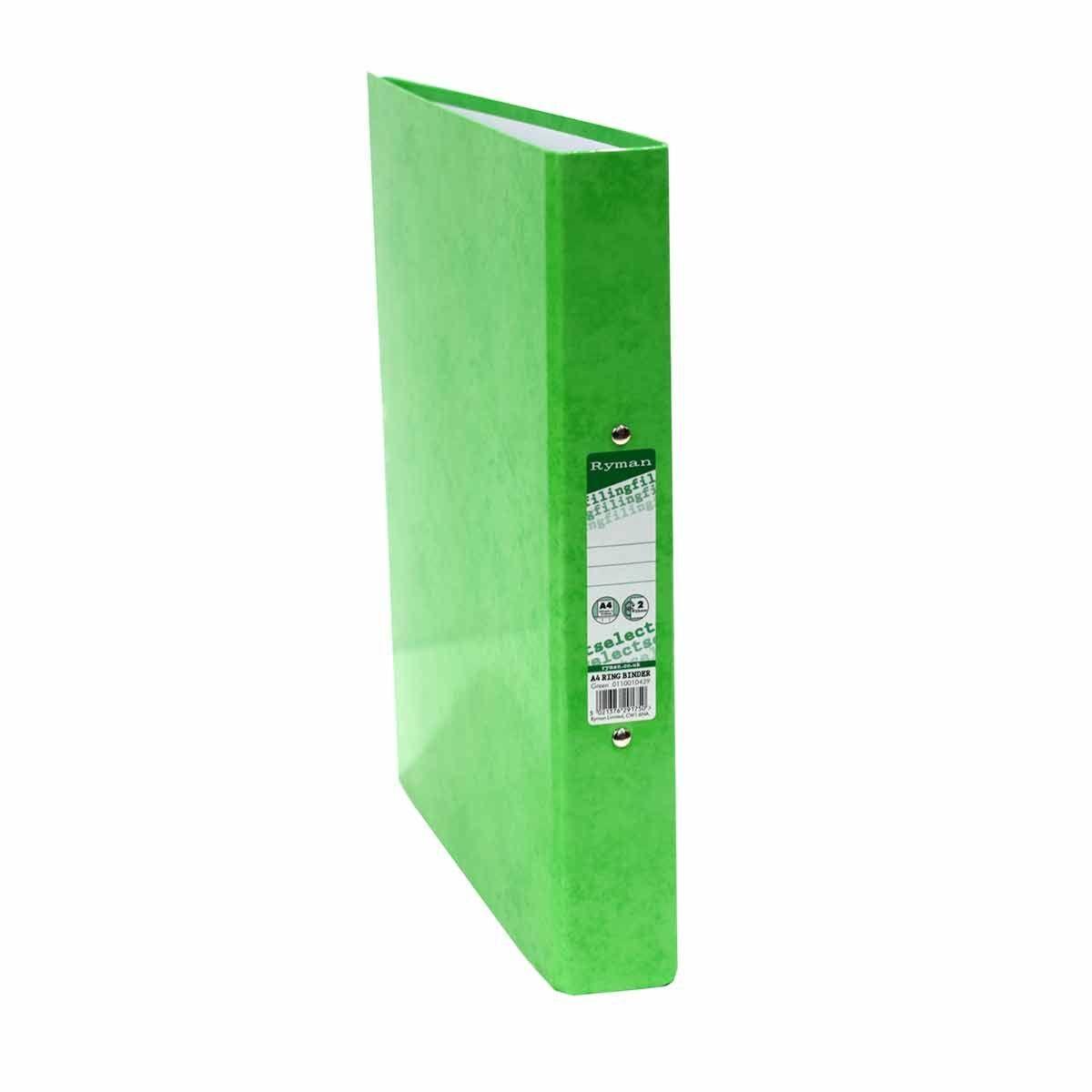 Ryman Select A4 Ringbinder Green