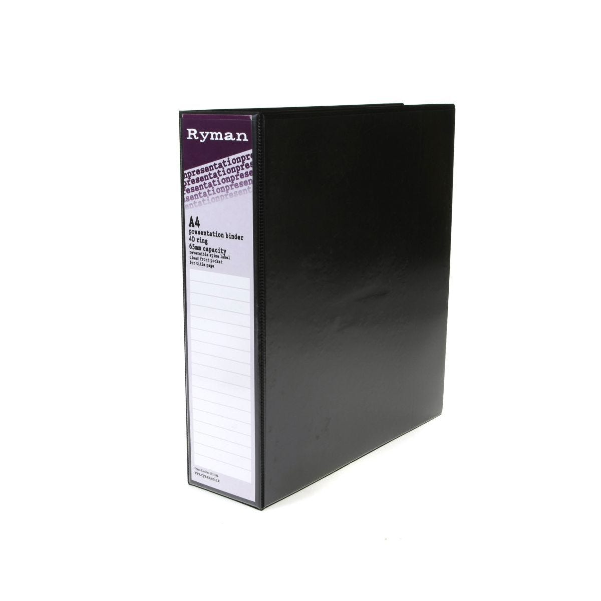 Ryman Presentation Ring Binder A4 4D Ring 65mm