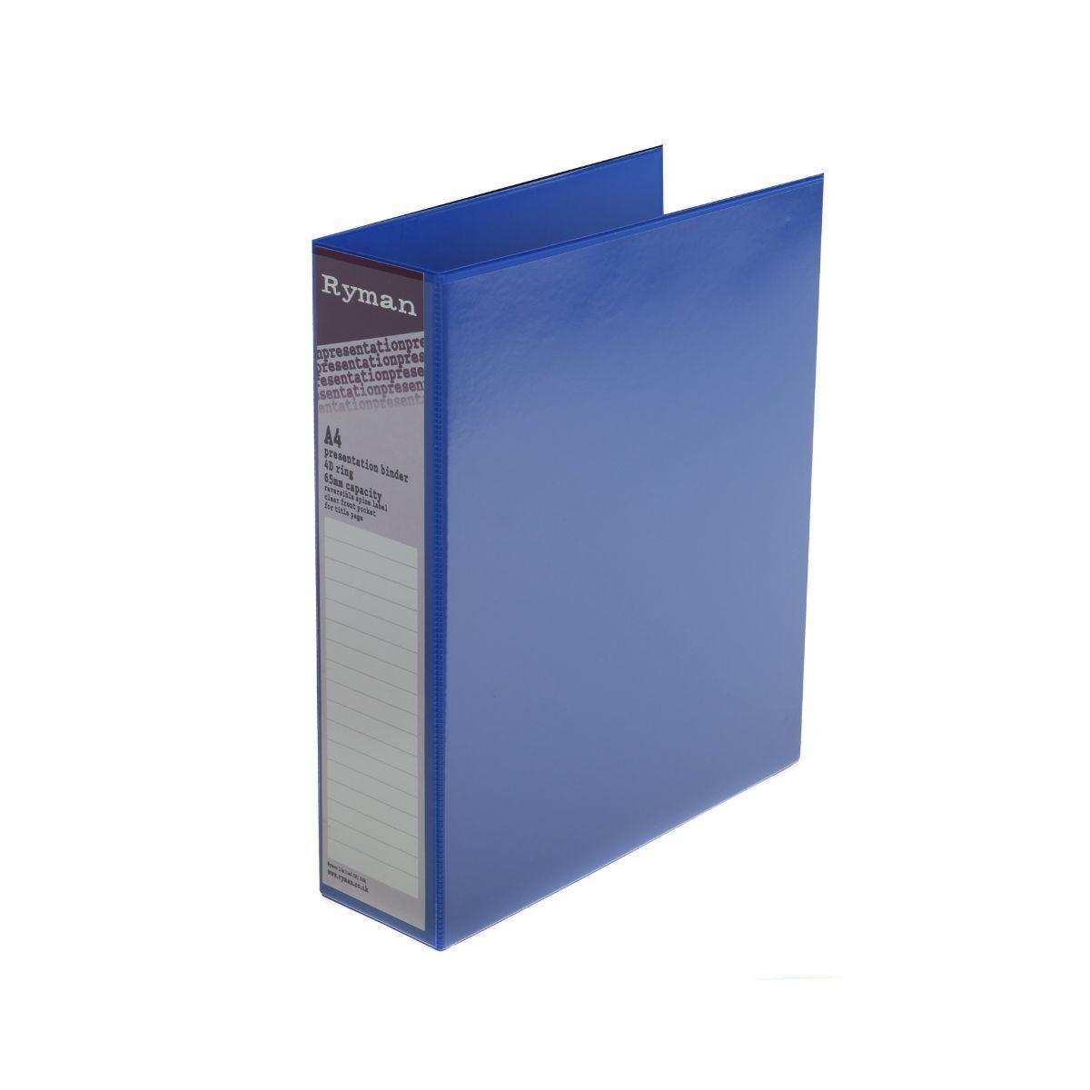 Ryman Presentation Binder A4 4D 65mm