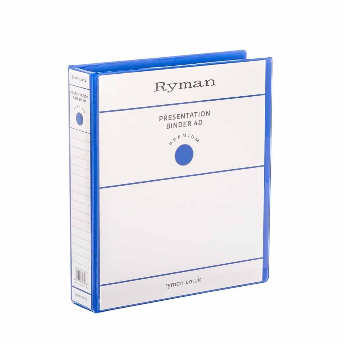 Ryman Presentation Ring Binder A4 4D Ring 38mm Blue