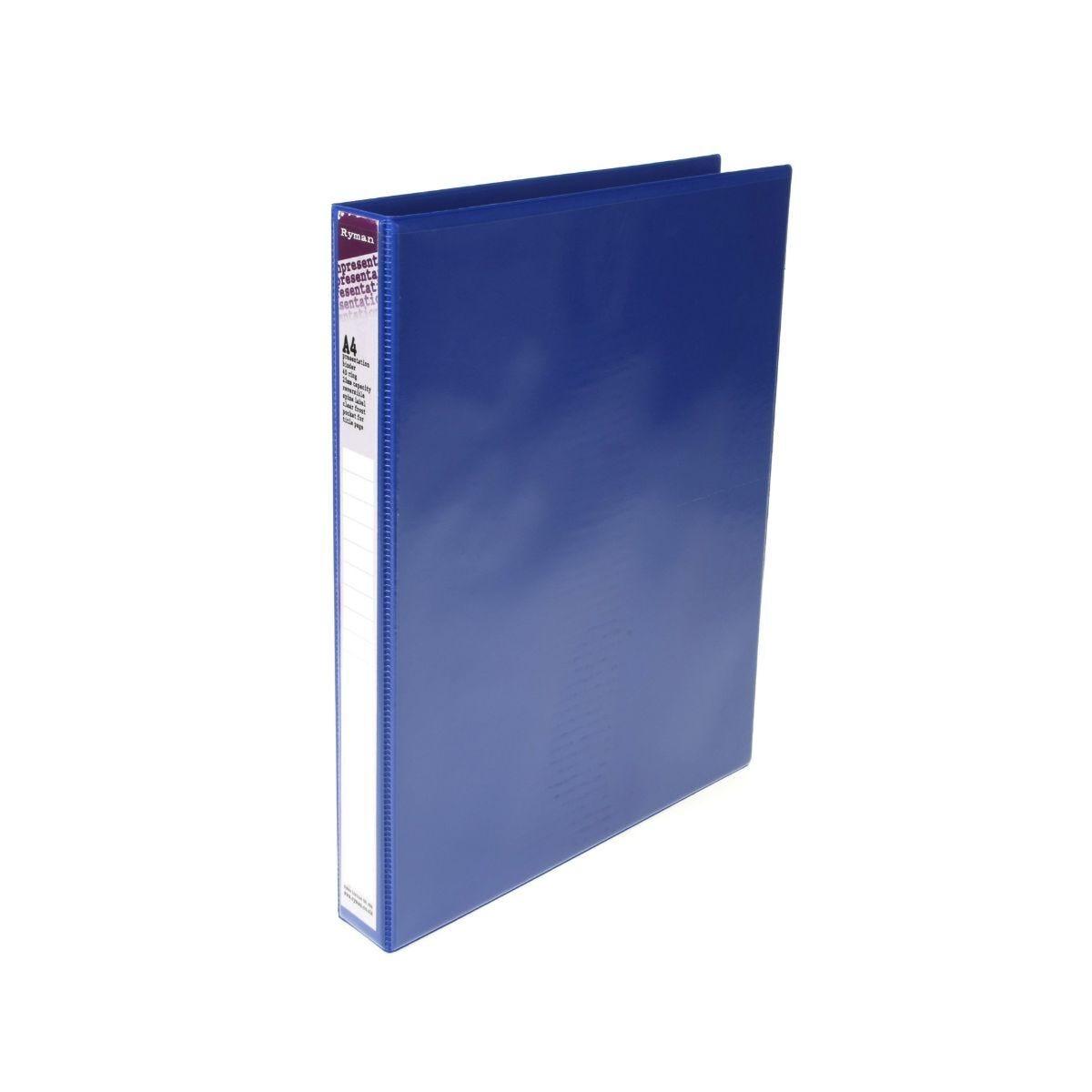 Ryman Presentation Ring Binder A4 4D Ring Blue