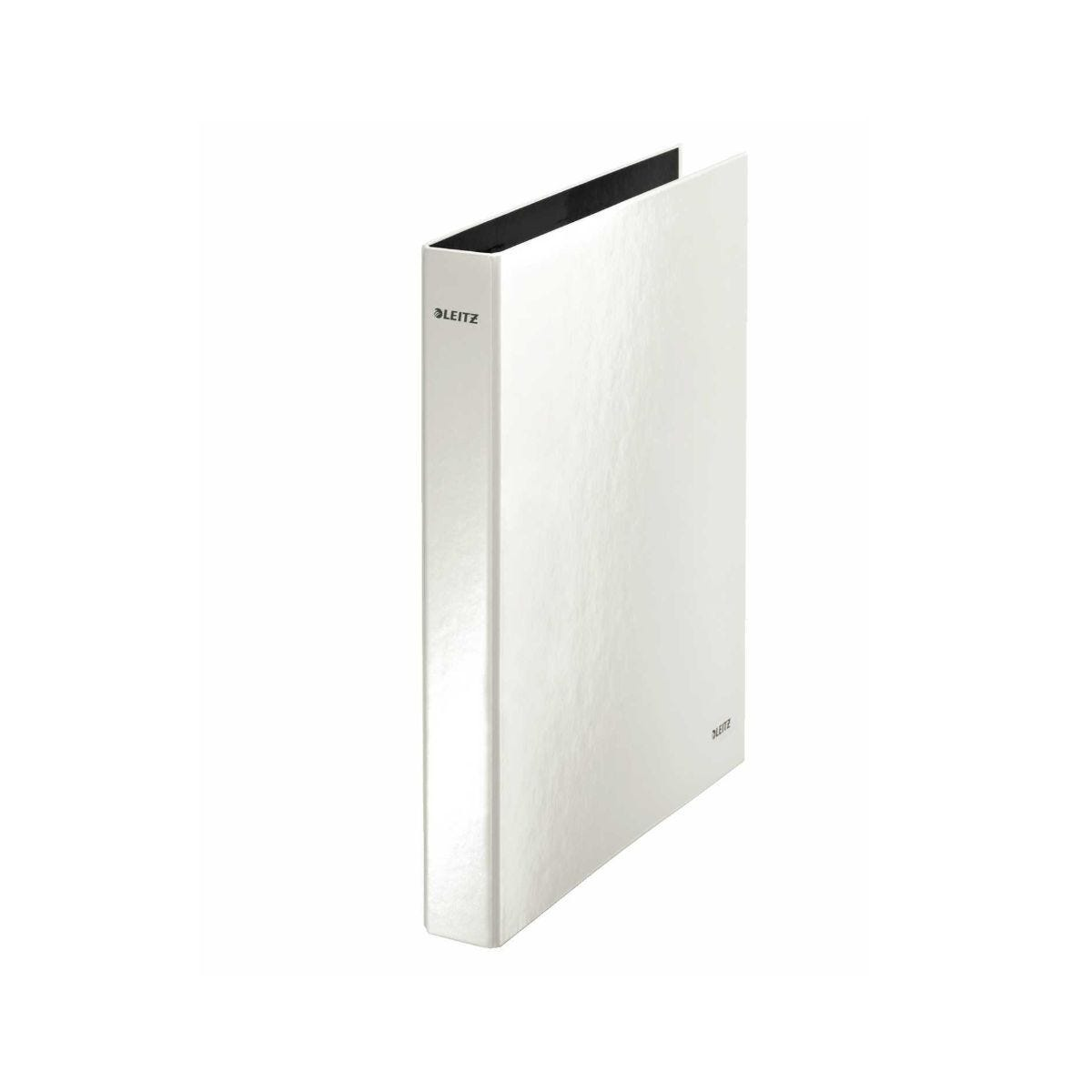 Leitz WOW Laminated A4 Ring Binder Pearl White