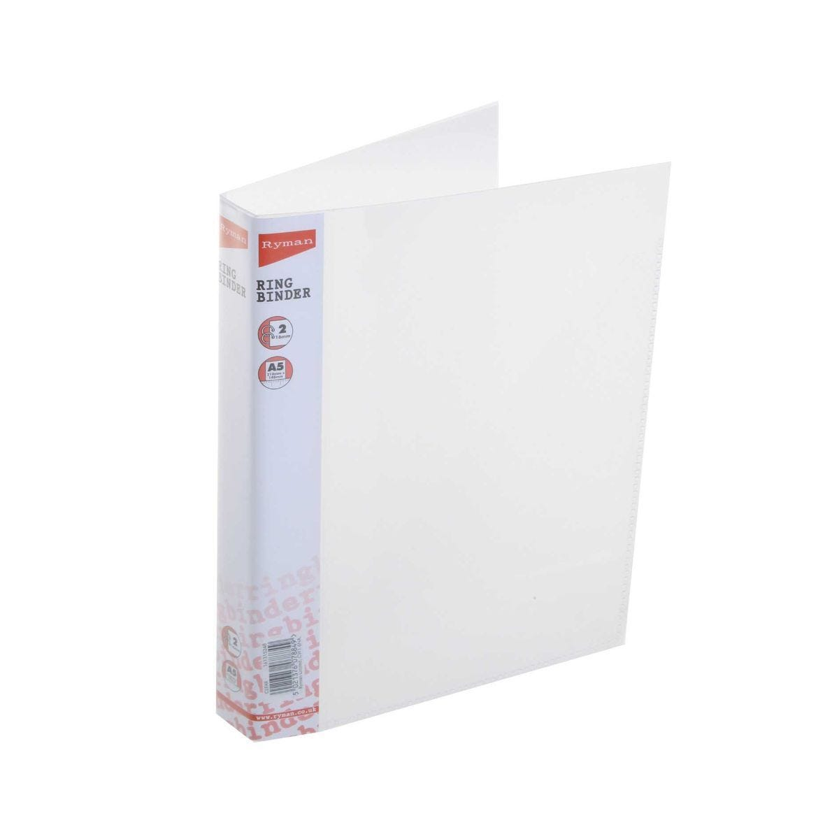 Ryman Ringbinder A5 16mm Pack of 12 Clear