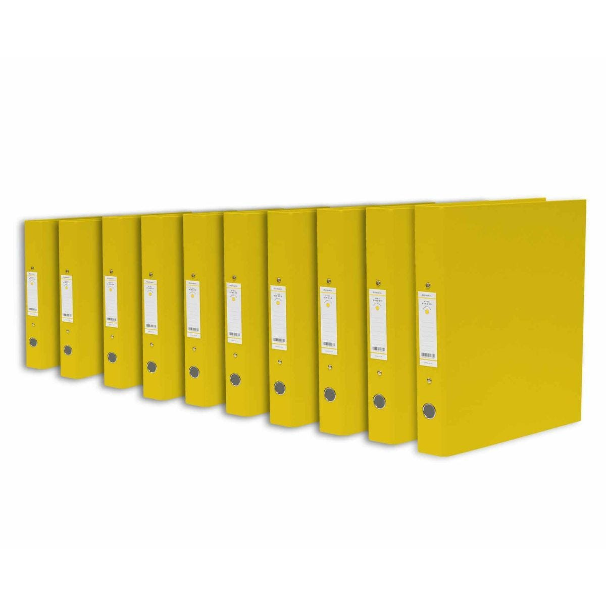 Ryman Premium Ring Binder Pack of 10 Yellow