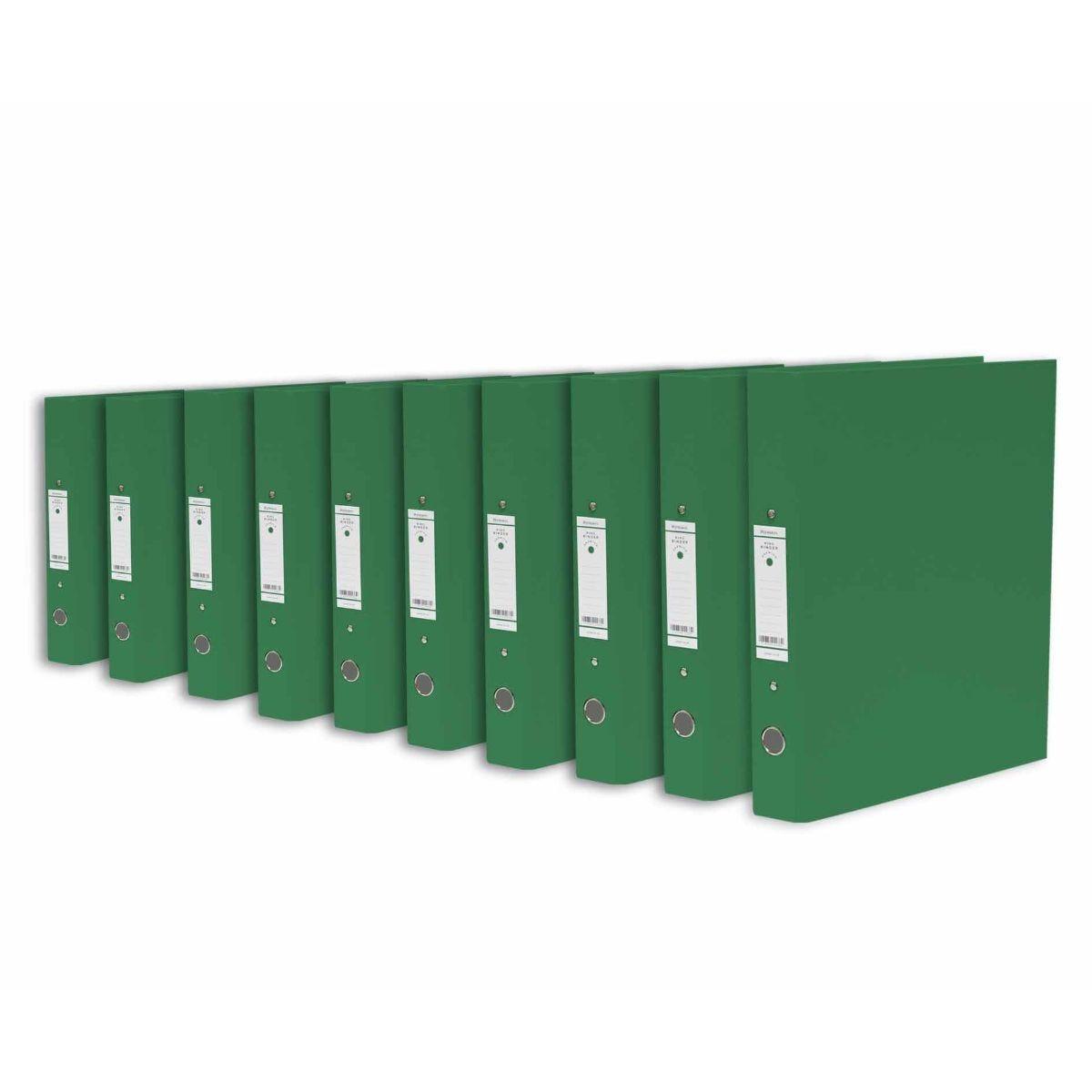 Ryman Premium Ring Binder Pack of 10 Dark Green