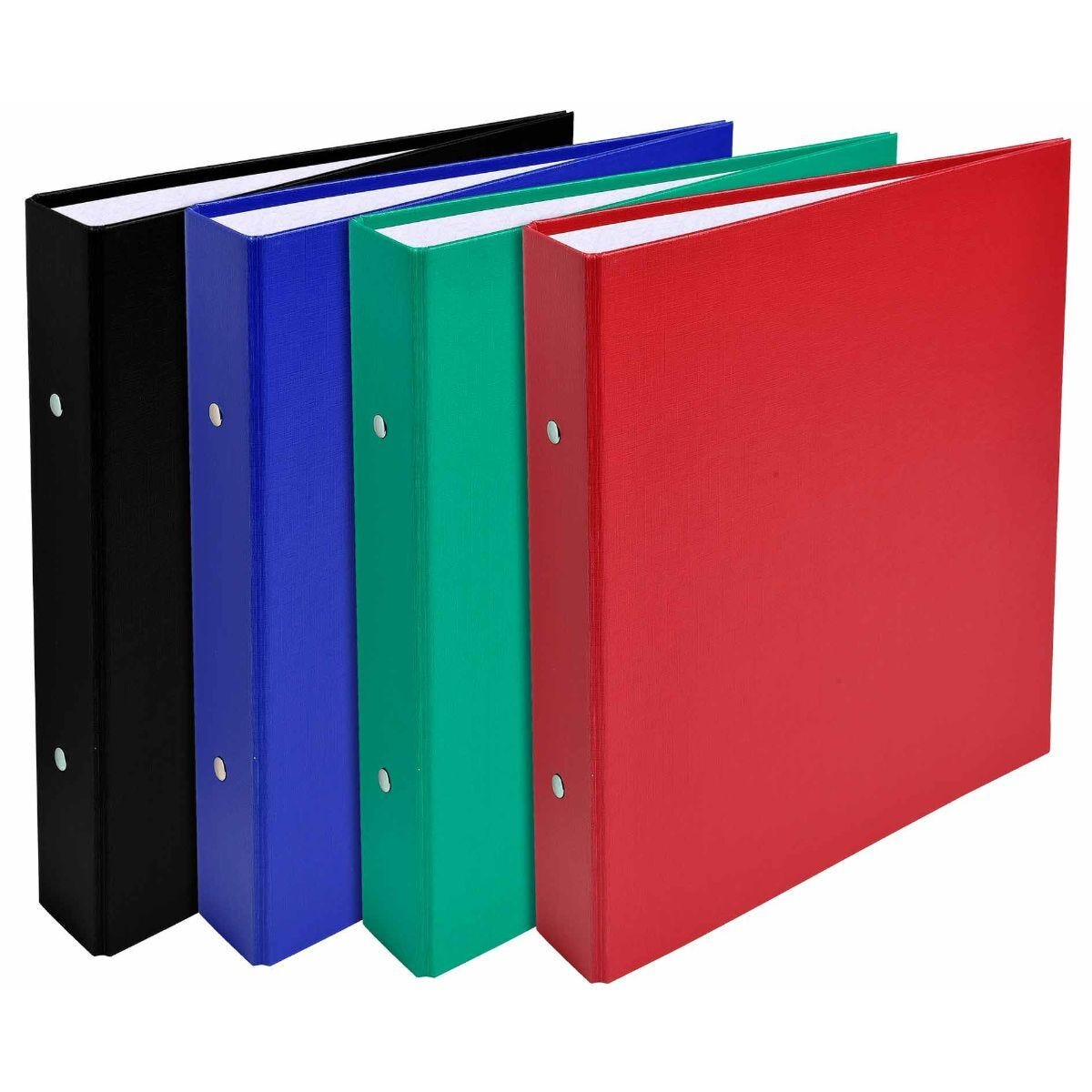 Exacompta Covered Card Ring Binder 2 Rings 30mm A5 Pack of 20 Assorted