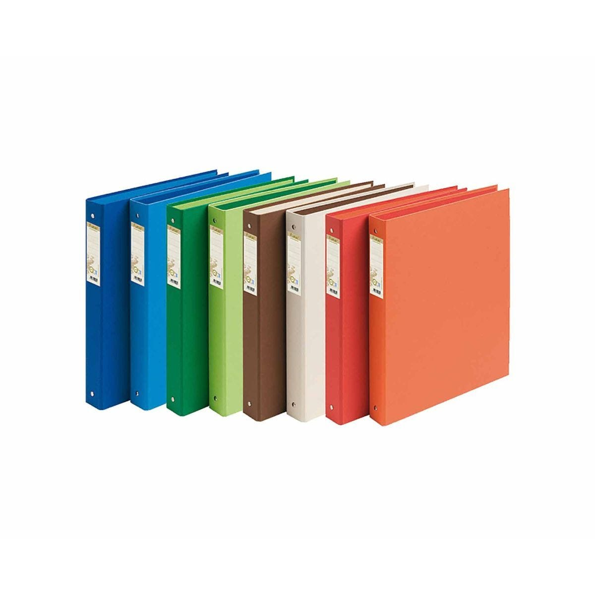 Exacompta Forever Ring Binder 2 Ring 30mm A4 Pack of 10 Assorted