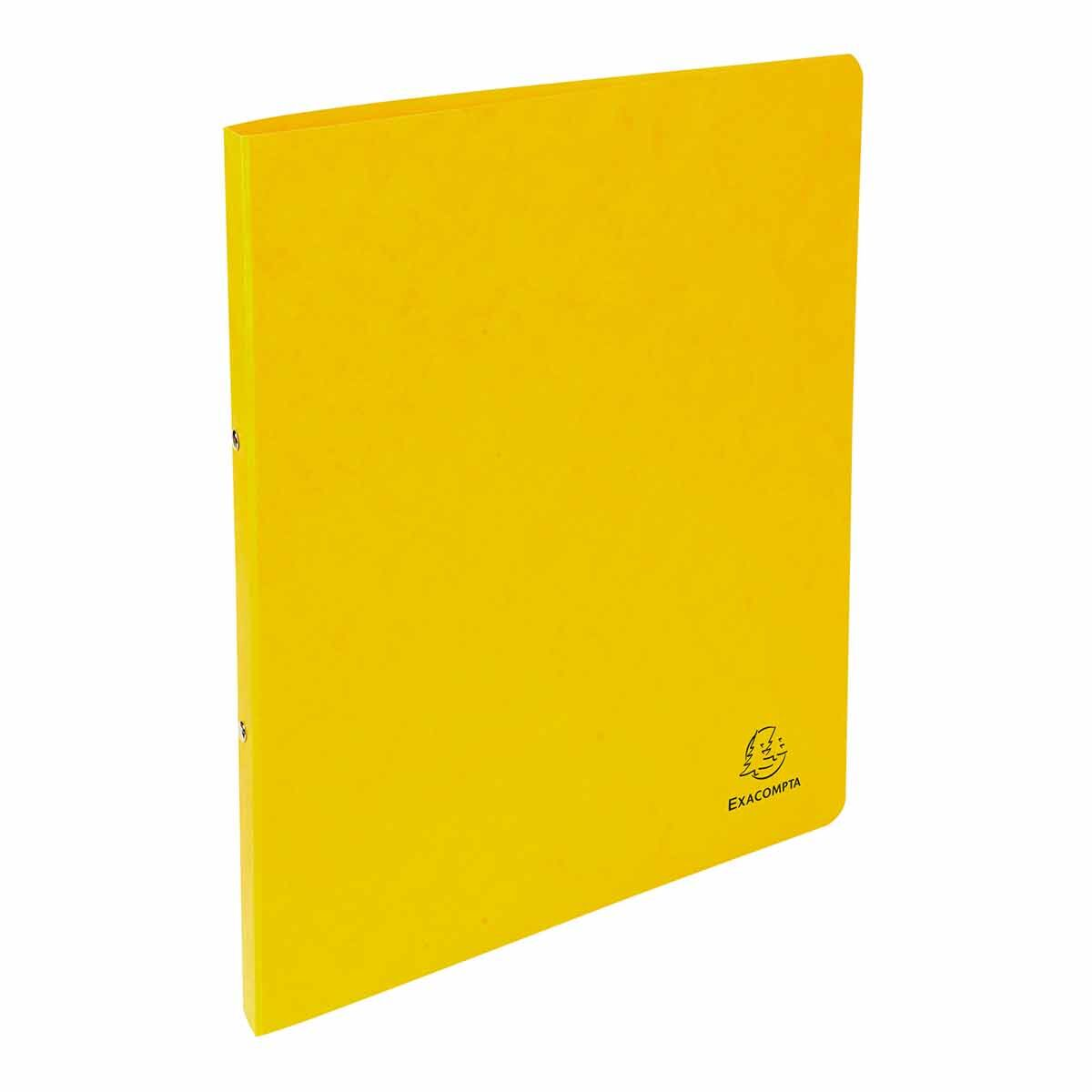 Exacompta Europa Pressboard Ring Binder A4 Pack of 10 Yellow