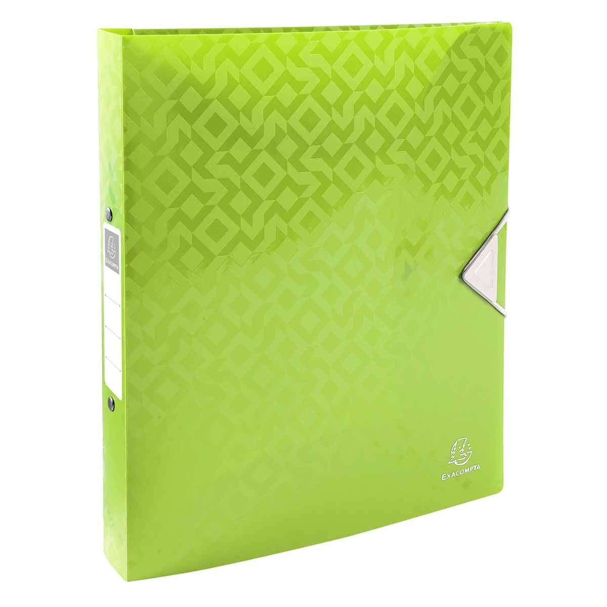 Exacompta PP Offix Ring Binder A4 Plus 2 Ring 30mm Pack of 10 Assorted