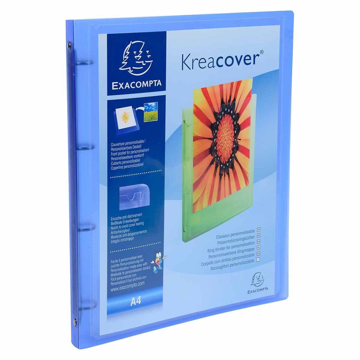Exacompta Kreacover ChromaLine Ring Binder A4 4 Ring 15mm Pack of 12