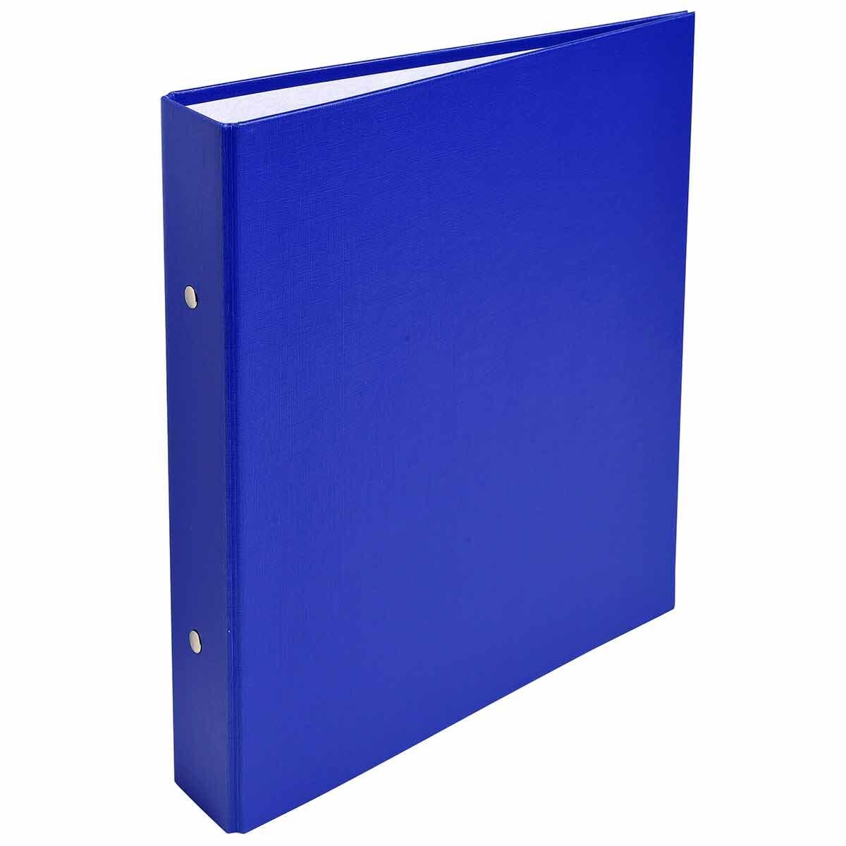 Exacompta Covered Card Ring Binder A5 2 Rings 25mm Pack of 20 Blue