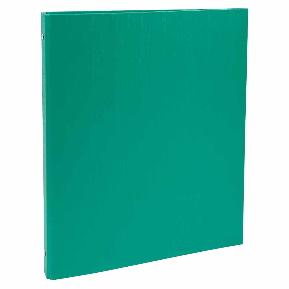 Exacompta Covered Card Ring Binder A4 4 Rings 15mm Pack of 20 Green