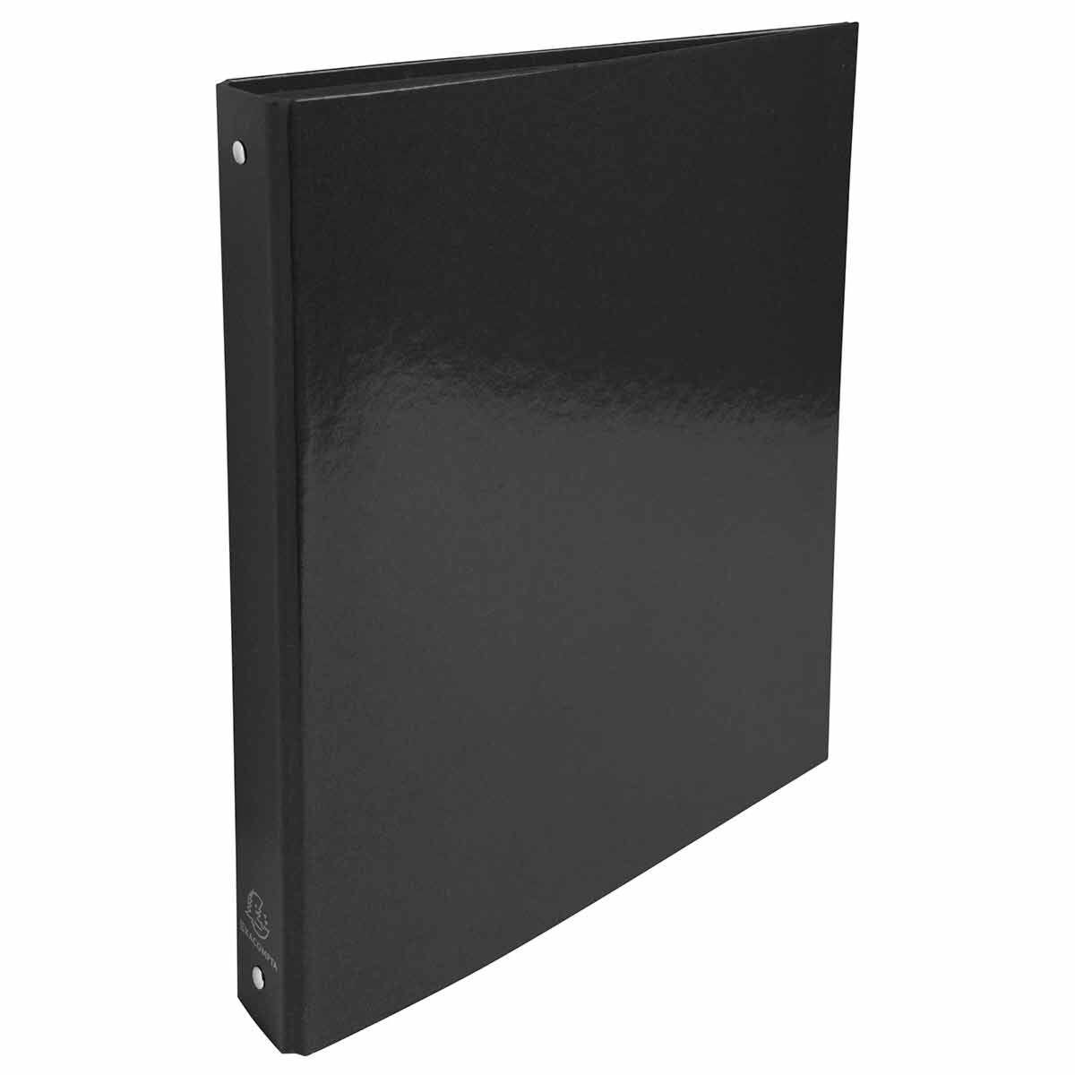 Exacompta Iderama Plastic Coated Ring Binder 4 Ring 30mm A4 Pack of 10 Black