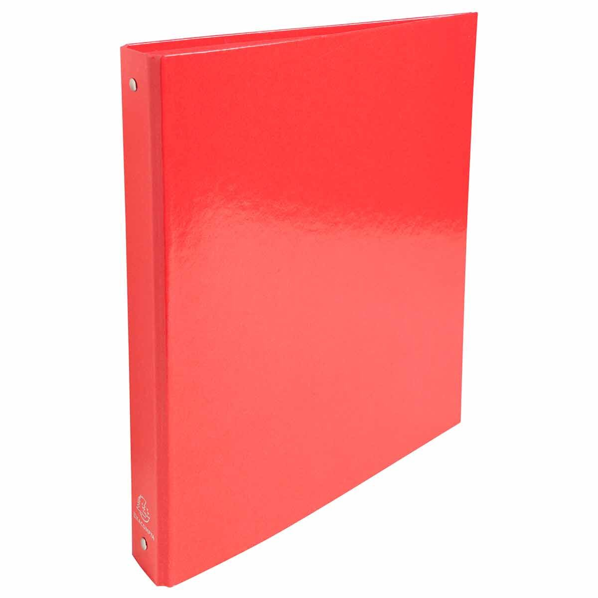 Exacompta Iderama Plastic Coated Ring Binder 4 Ring 30mm A4 Pack of 10 Red