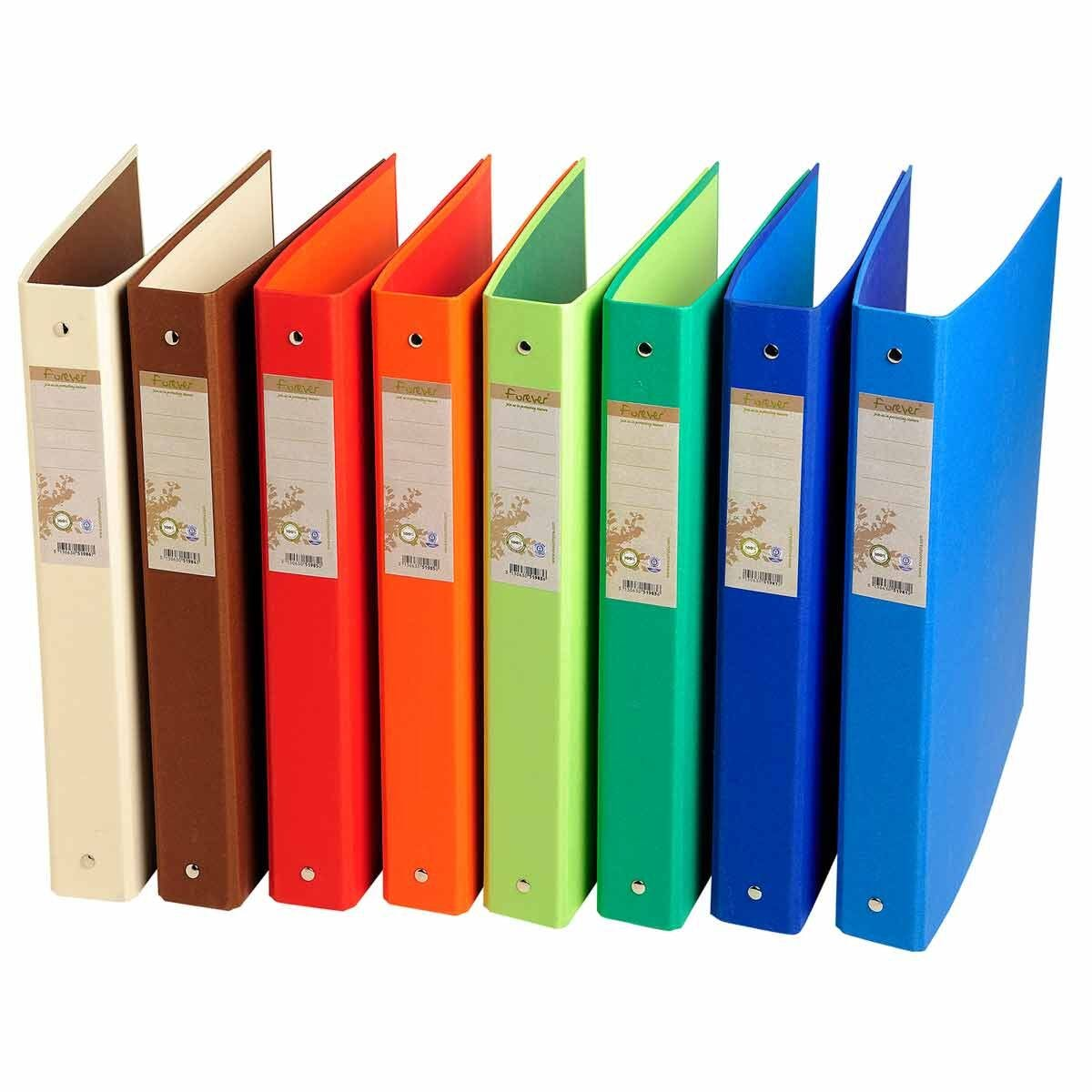 Exacompta Forever Ring Binder 4 Ring 30mm A4 Pack of 10 assorted