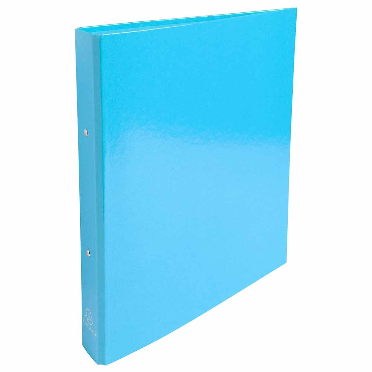 Exacompta Iderama Plastic Coated Ring Binder 2 Ring 30mm A4 Pack of 10 Light Blue