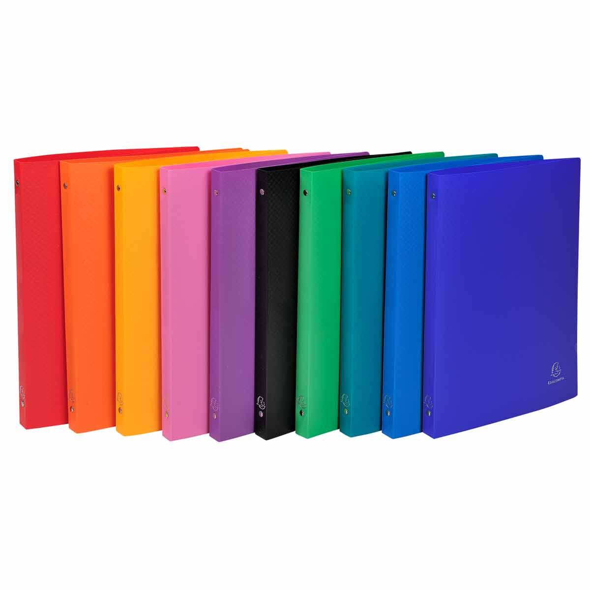 Exacompta Ring Binder OPAK 4 Ring 15mm A4 Ring Binder Pack of 10 Assorted