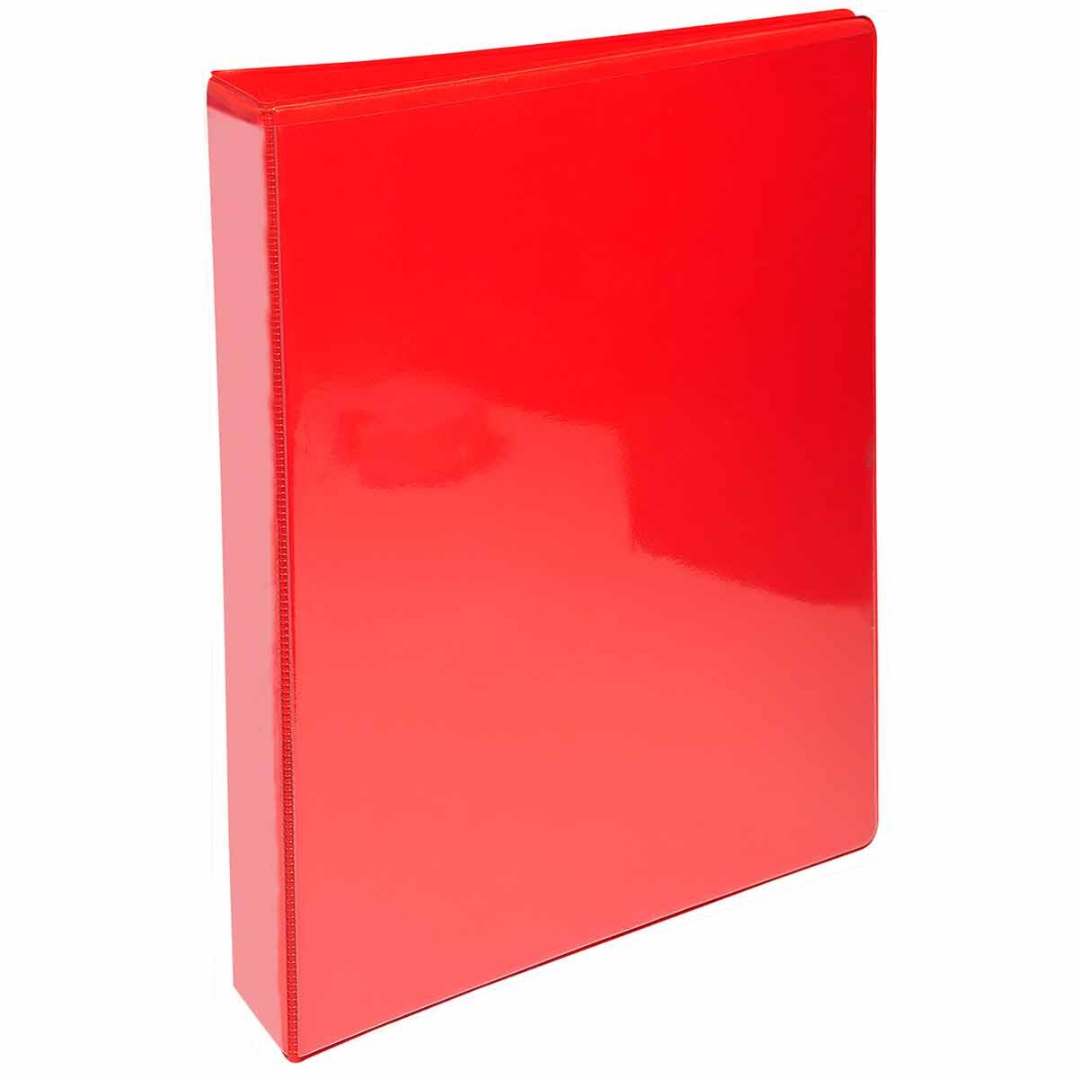 Exacompta Kreacover Personal Ring Binder A4 Plus 2 Rings 25mm Pack of 10 Red