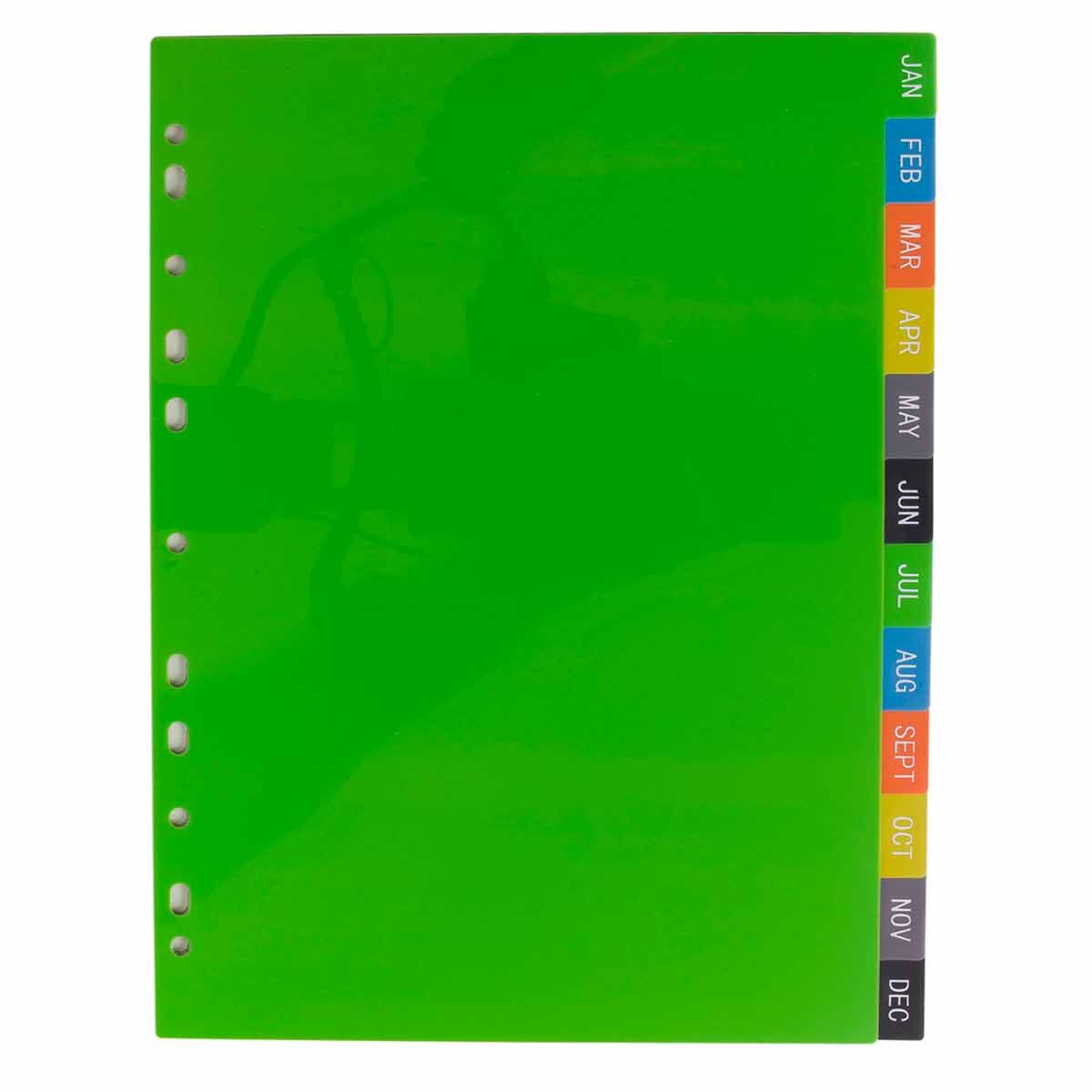 eco eco File Dividers Jan to Dec A4