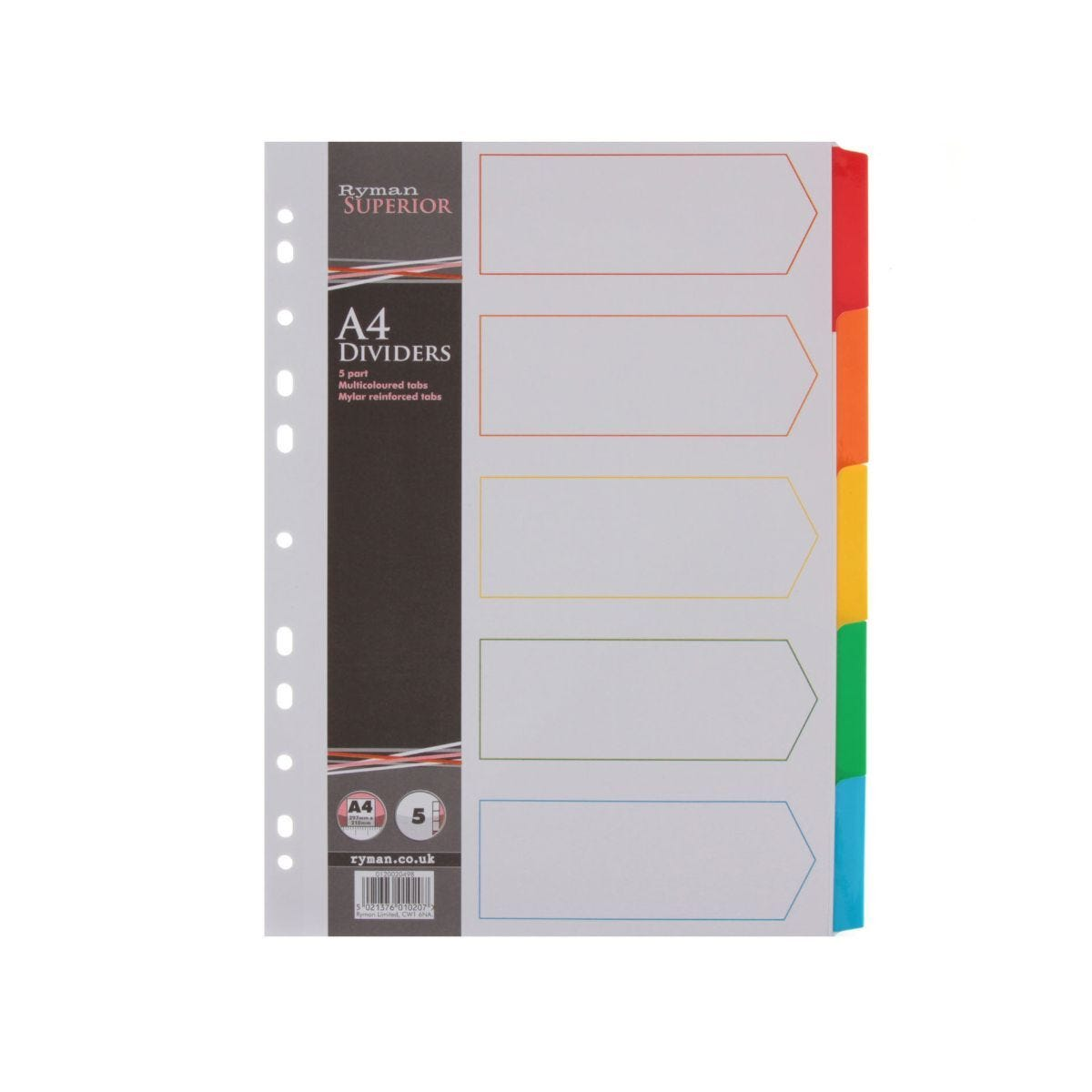 Ryman Index Mylar A4 5 Part Pack of 20
