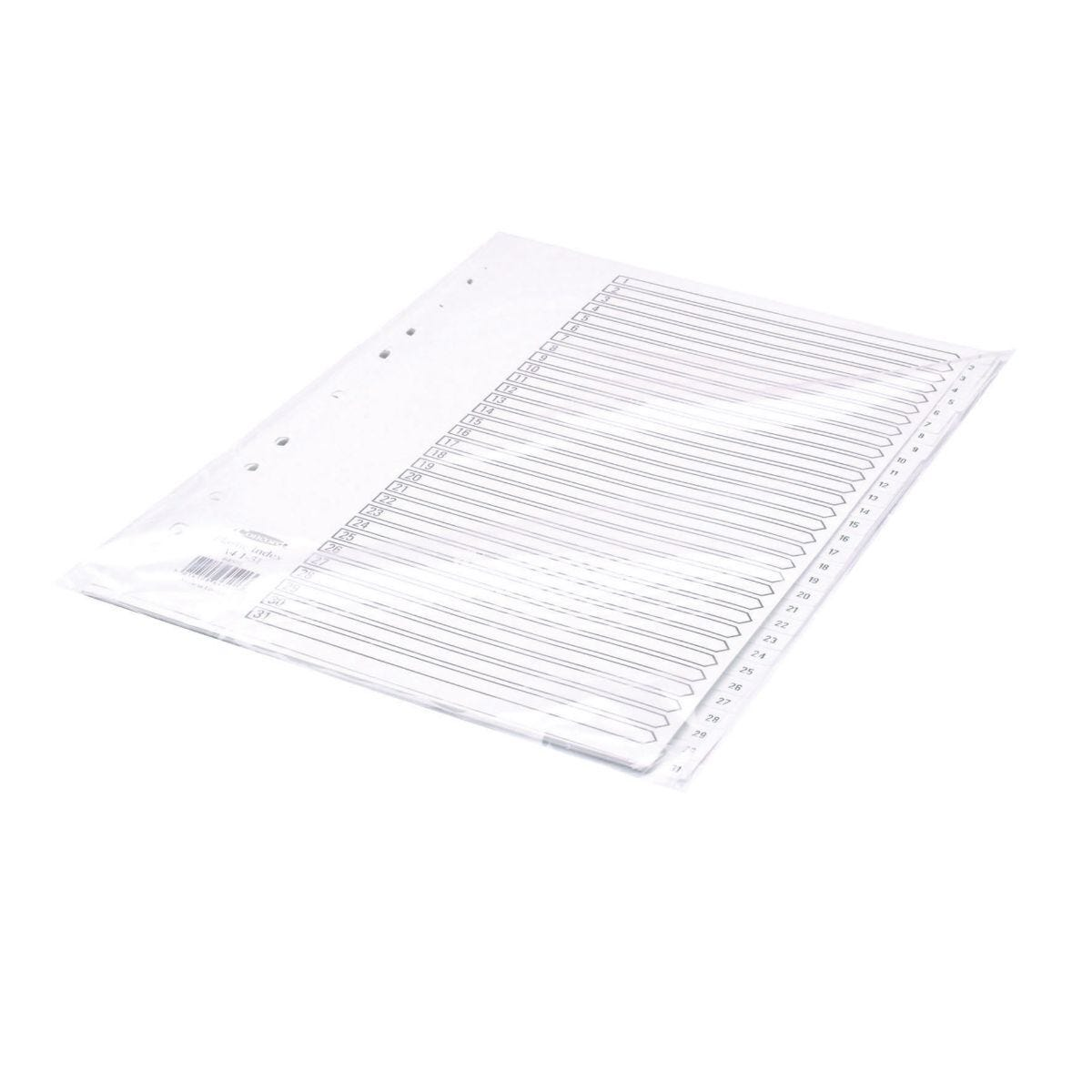 Concord Polypropylene Index 1-31 A4 White