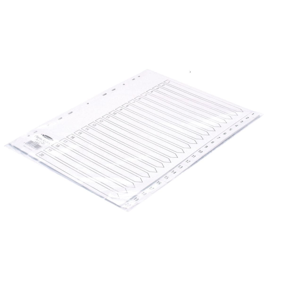 Concord Polypropylene Index 1-20 A4 White